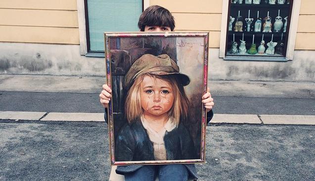 Bragolin bild weinendes kind von G.